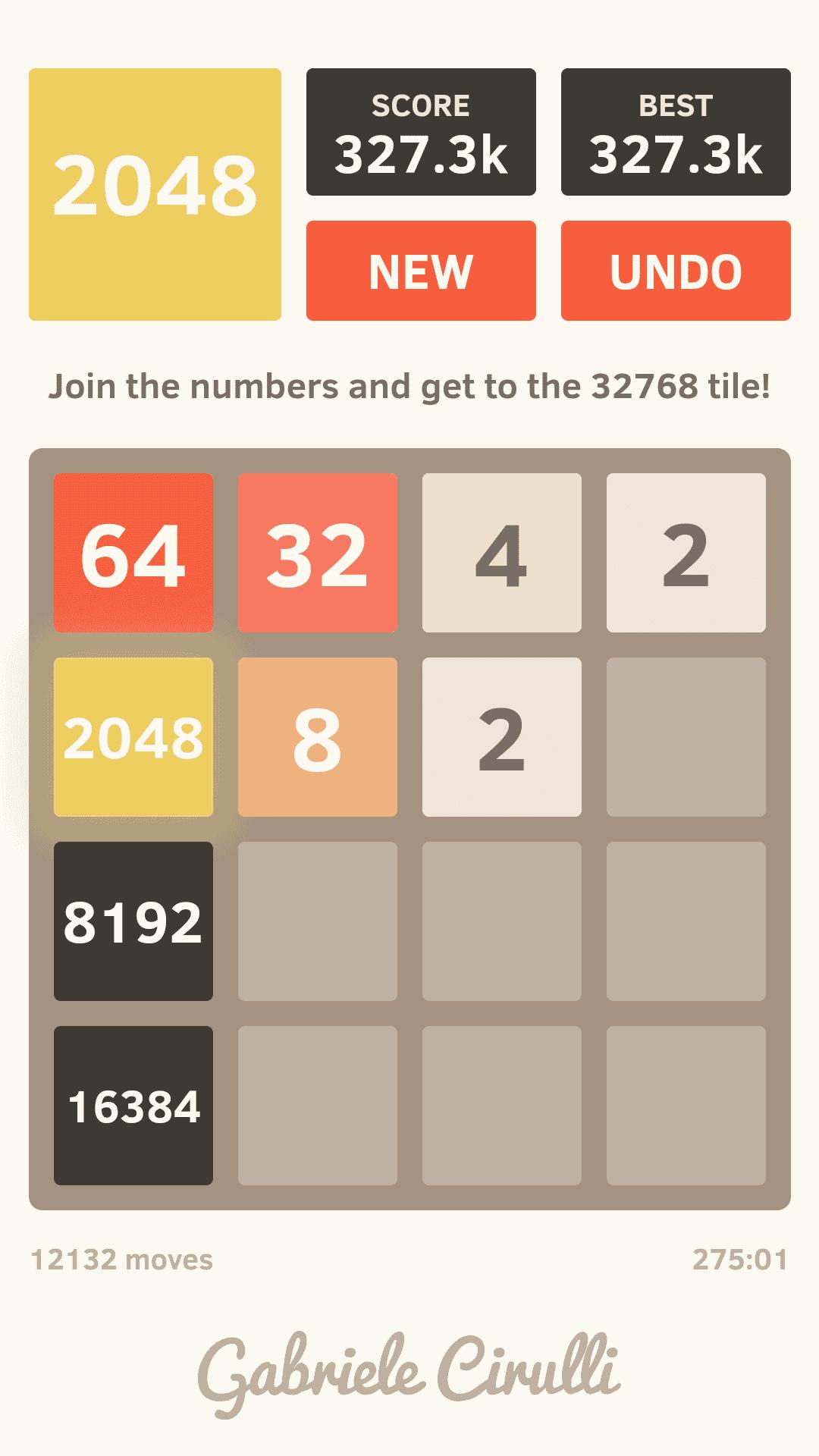 Mám svůj rekord ve hře 2048